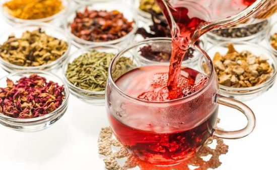 Colorful herb tea